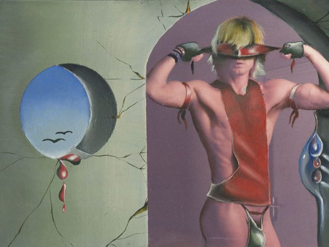 Peter Berlin, Self Portrait with Blindfold and Porthole